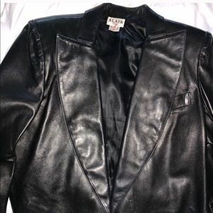 Authentic Vintage Alaia Black Leather Jacket 🔥